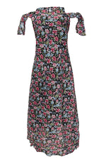 DIANE ROSE FLORAL COLD SHOULDER MAXI DRESS