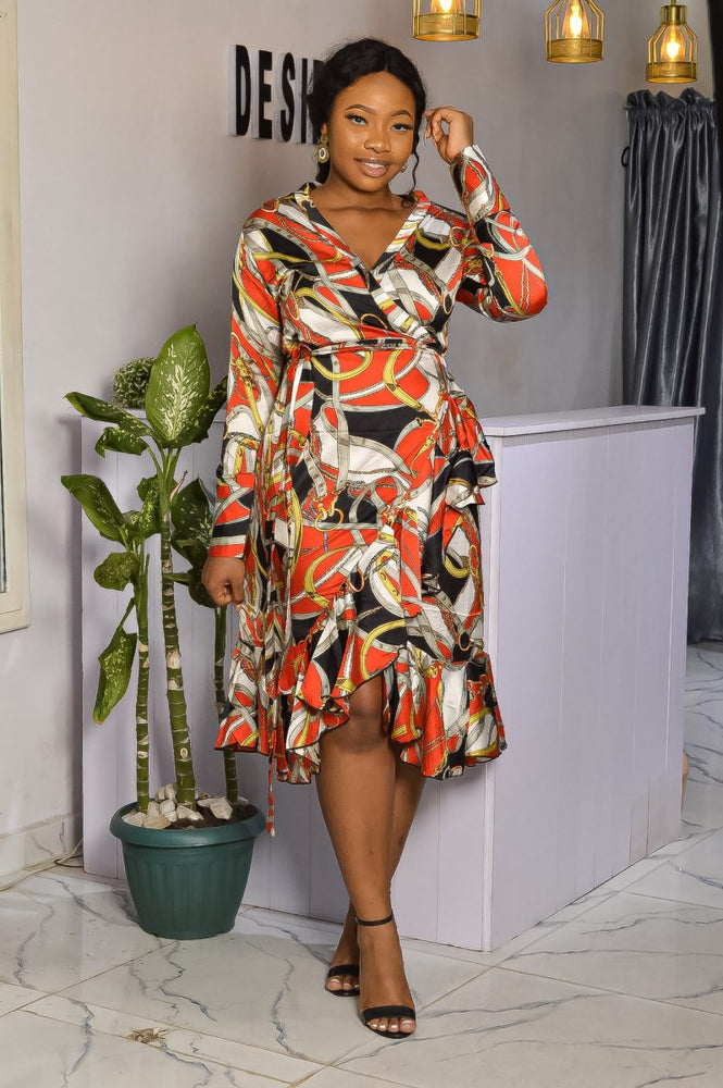 YEWANDE  WRAP DRESS