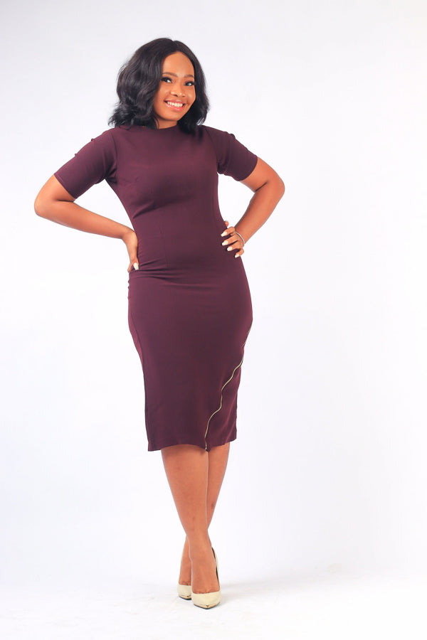 NKEM ZIPPER DRESS