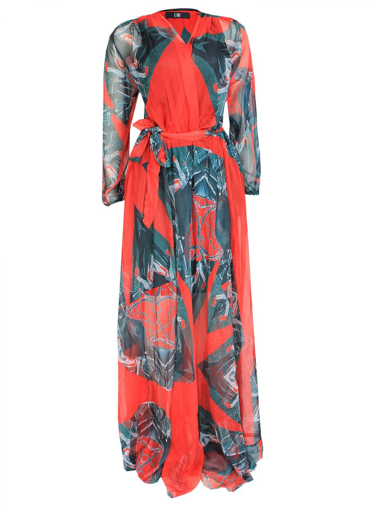 ANDRIAS RELOADED MAXI WRAP DRESS