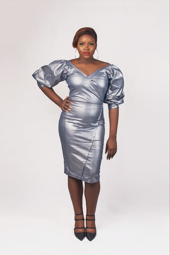 LAO METALLIC DRESS