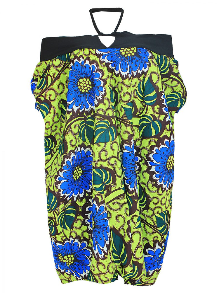 FUNMI RELOADED ANKARA HALTER NECK DRESS