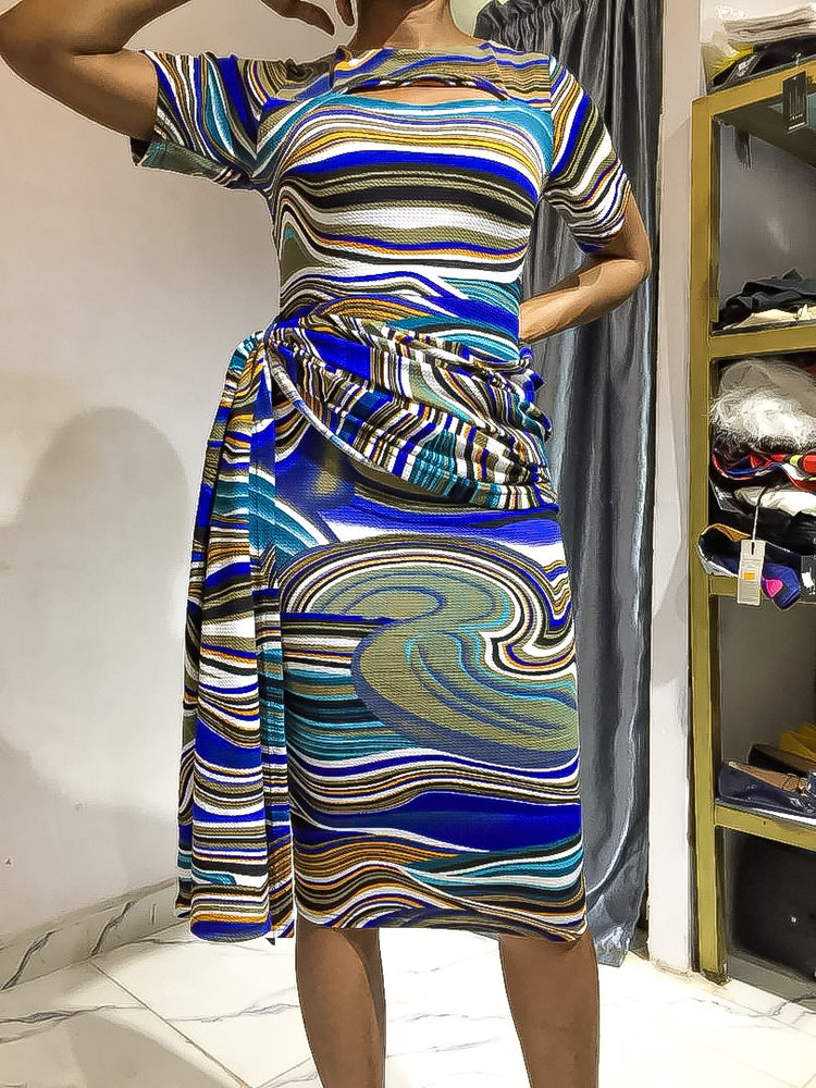 CYNTHIA SASH DRESS