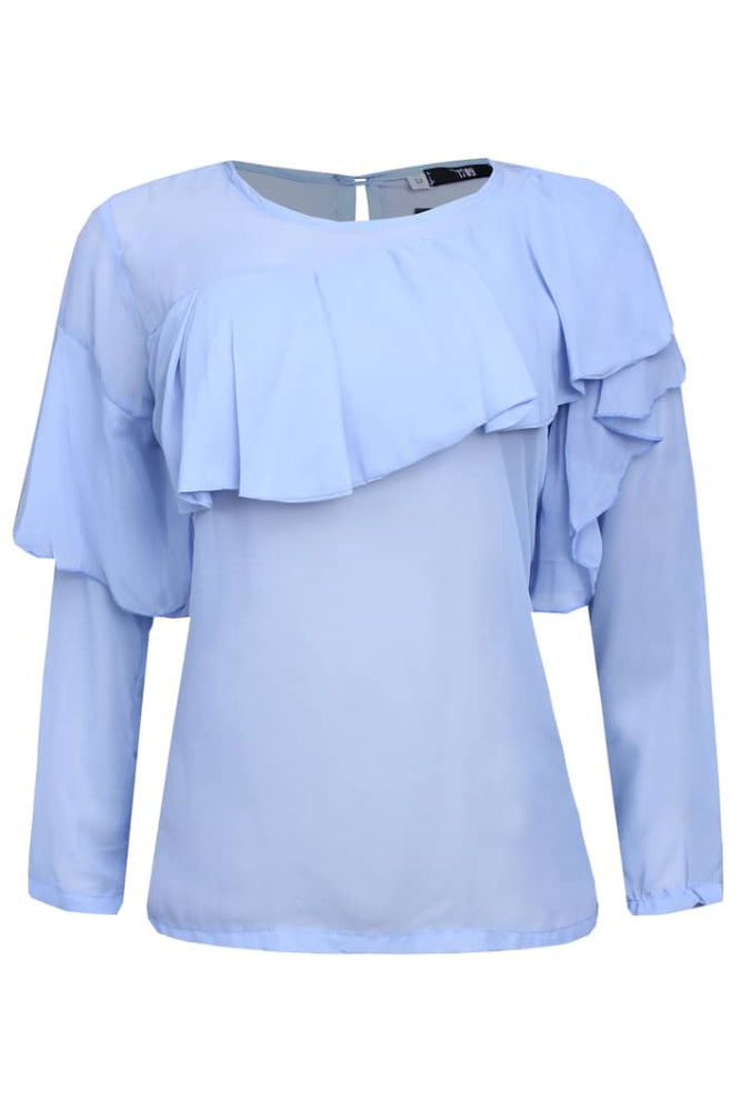 RUBY FRONT FRILL TOP