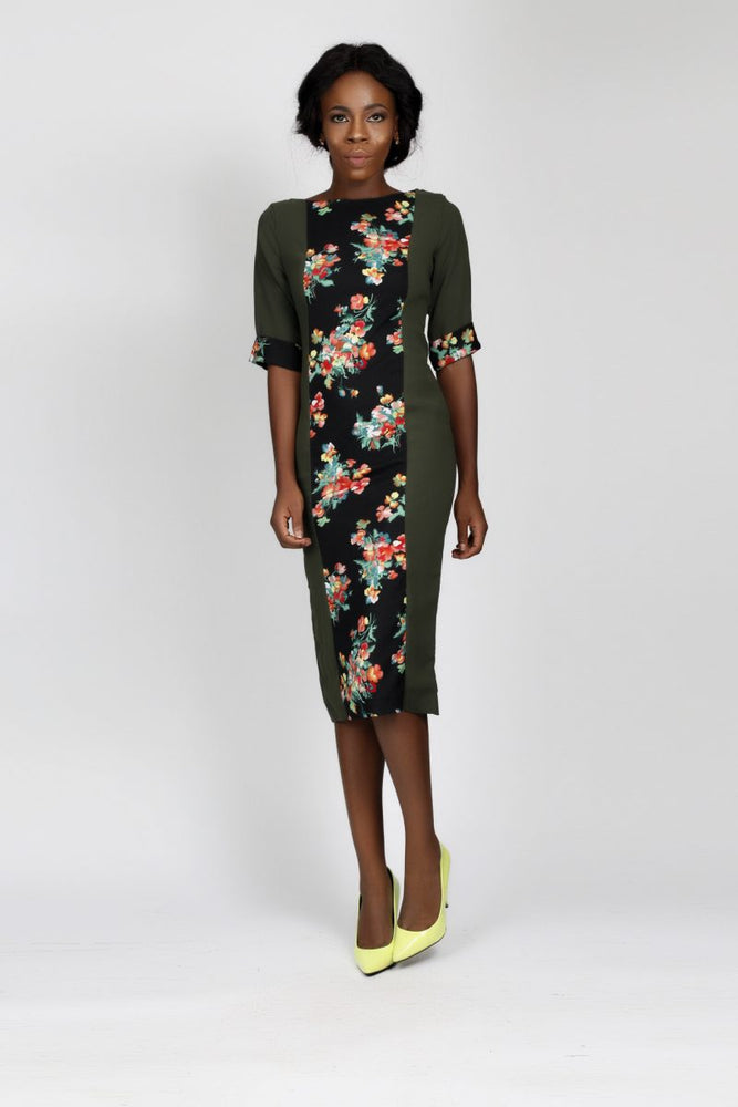 ADINE FLORAL MIX DRESS