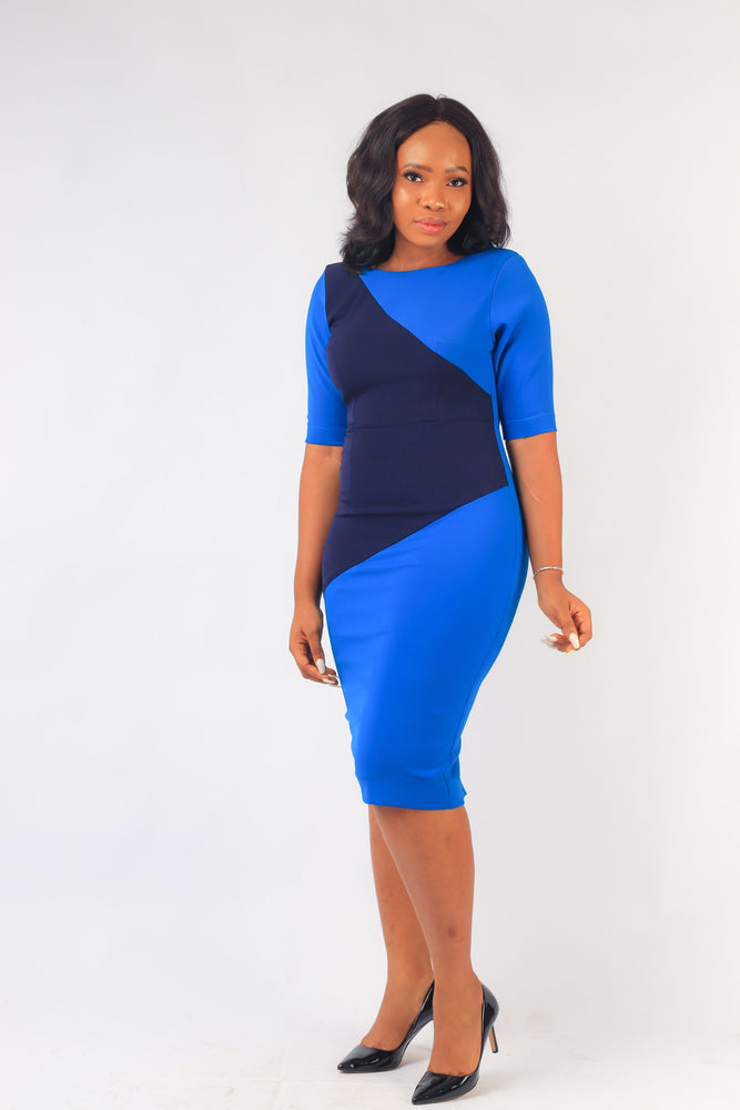 OPRAH COLOR BLOCK DRESS