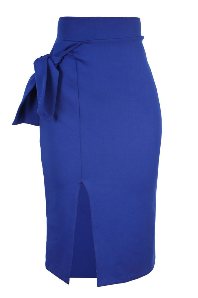 PERTH MIDI SKIRT WITH BOW