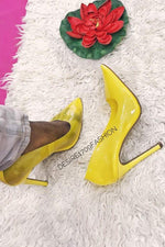 PERSPEX COURT SHOES (YELLOW)