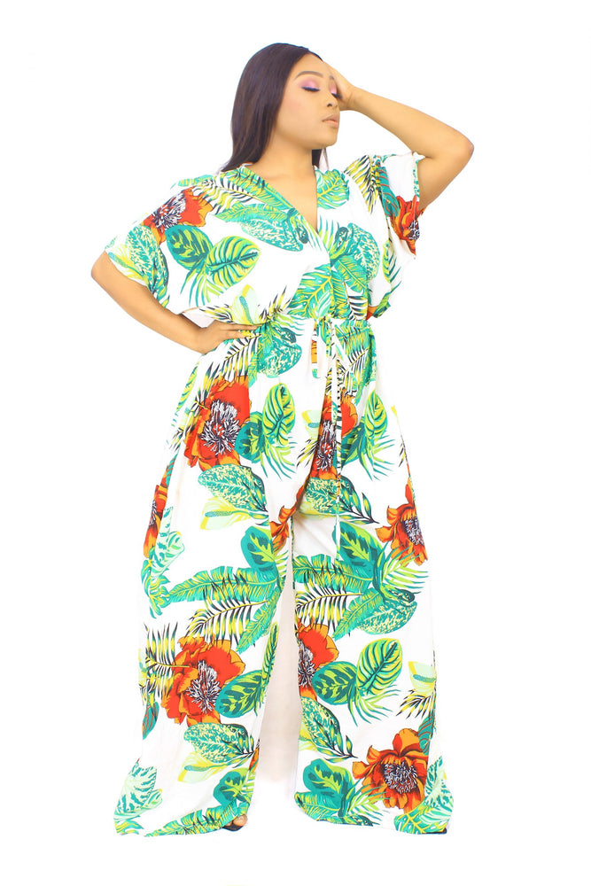 OPE PALM TREE JUMPSUIT