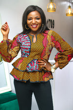 YEMI DOUBLE PEPLUM HEM ANKARA TOP
