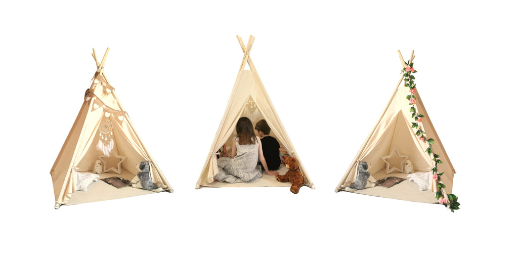 Feather on the Floor Children's Teepee Play Tent