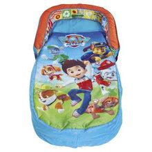 "Load image into Gallery viewer, Paw Patrol MyFirst ReadyBed ""Air Bed"" for children to sleep on when camping, from Kids Camping Store, viewed from above"