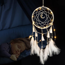 Load image into Gallery viewer, Children's Teepee Tent with Illuminated Dreamcatcher