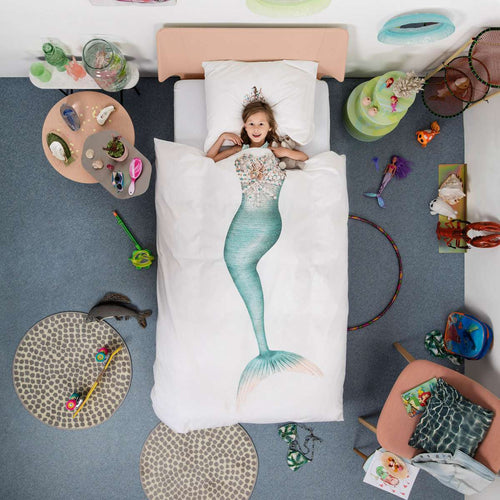Snurk Mermaid Duvet Cover & Pillow Case - Feather on the Floor