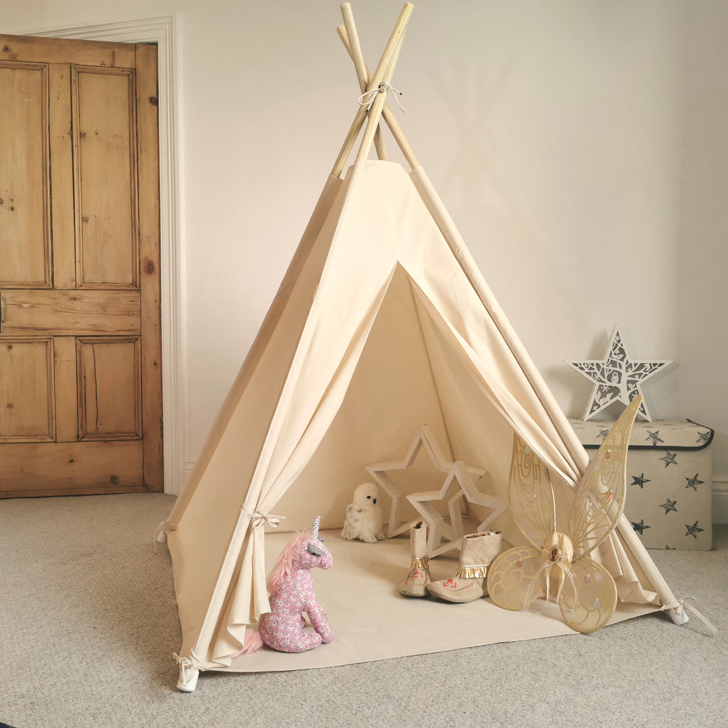 Children's Teepee Tent by Feather on the Floor