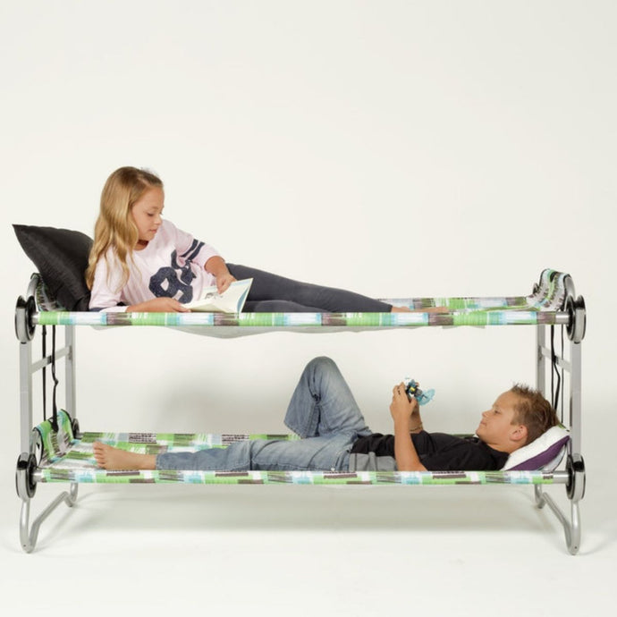 Block Pattern Kid-O-Bunk Portable Bunk Bed - Feather on the Floor
