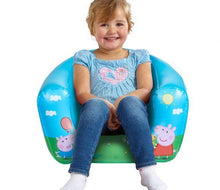 Load image into Gallery viewer, Child in Childrens Peppa Pig Camping Arm Chair
