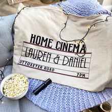 Load image into Gallery viewer, Personalised Home Cinema Family Fleece Blanket - Feather on the Floor