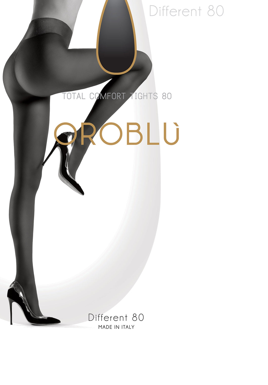 Oroblu panty Different 80 den OR1148050 black