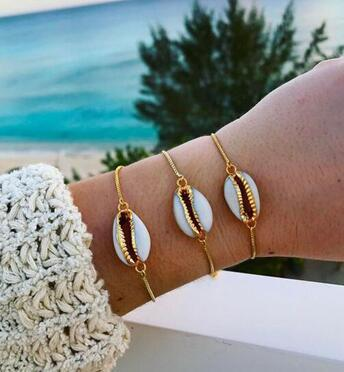 Shell Cowry Cuff Bracelets Bangle