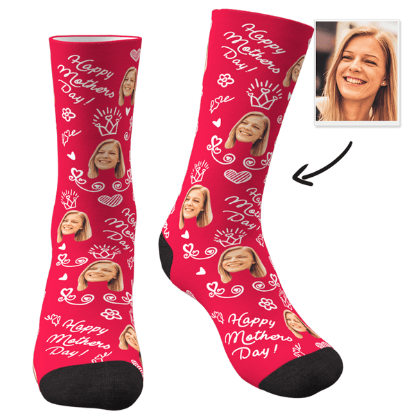 Custom Photo Socks Mom-Happy Mother's Day - MyPhotoSocks