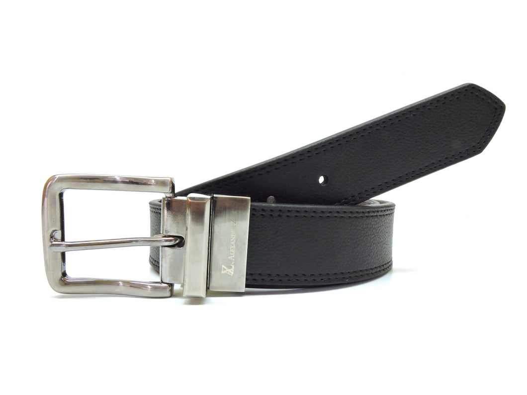 AZ by Alexander Zar Men's Reversible Leather Belt, 38 Millimeters Wide