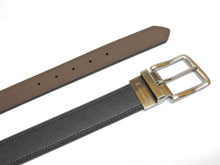 Load image into Gallery viewer, AZ by Alexander Zar Men's Reversible Leather Belt, 38 Millimeters Wide