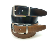 Load image into Gallery viewer, AZ by Alexander Zar Men's Reversible Leather Belt, 35 Millimeters, Casual Formal