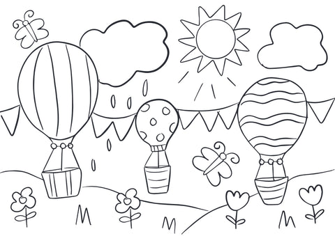 Adventure colouring page by Cotton Twist at Percy Langley