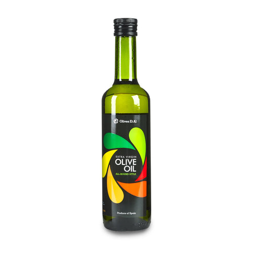 With aromas of tomatoes and lemons, with a fruitiness and pepperiness, notes of banana and nuts. Perfect bottle of Extra Virgin Olive Oil for everyday use.
