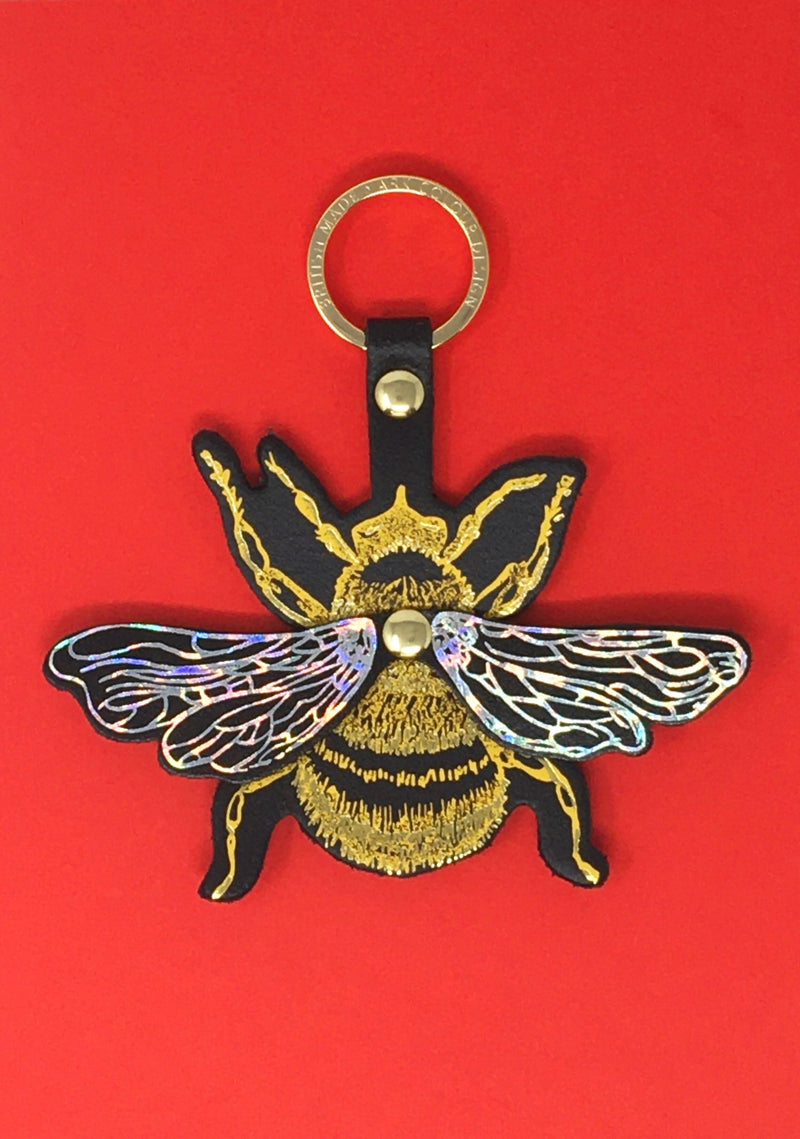 Bee Happy with this Bee key fob by Ark Colour Design. Sold by Percy Langley