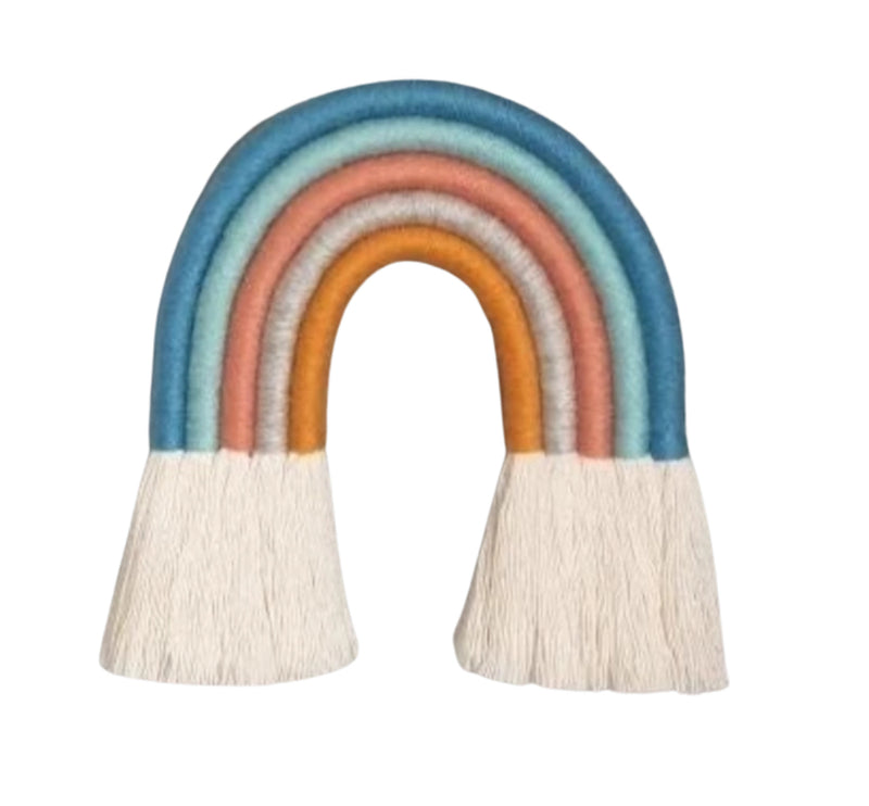 Incredible handmade rainbow hanging for kids bedrooms or in the window during lockdown!  Available in different colours and bespoke colourways upon request.