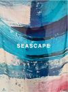 "Large Seascape cashmere wrap - 200cm x 100cm  Print taken from ""Seascape"" series of paintings onto gypsum; creating wonderfully abstract textures on a large scale. Finished with an eyelash hem. Cashmere shawl looks beautiful draped over the shoulders or wrapped several times round the neck."