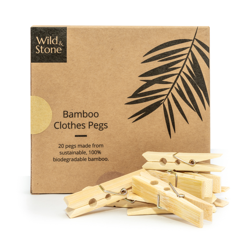 Biodegradable Bamboo Pegs 20 Pack