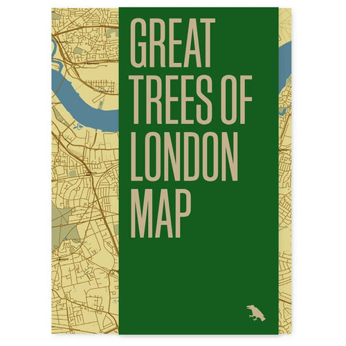 Map of rare tree species across London, English oaks, a 2,000-year old yew and beautiful cherry blossoms.
