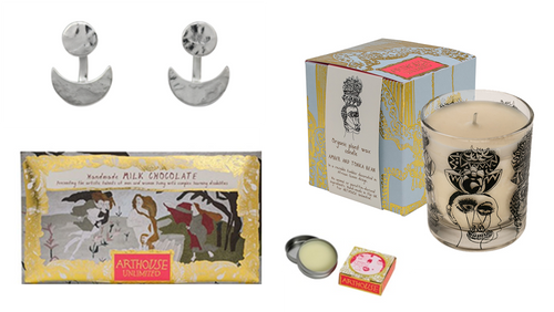 Silver Ear Jacket Candle Chocolate and Lip Balm  Gift Set