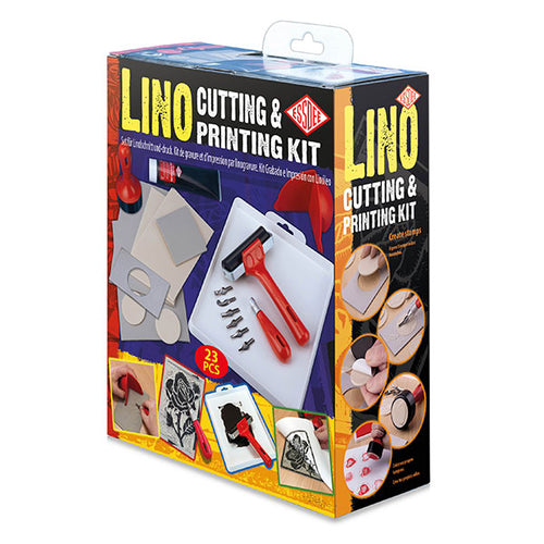 This is a 23 piece Lino Print Kit for you to make your very own lino cuts and prints, by Percy Langley