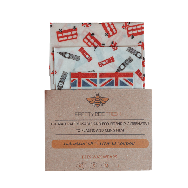 London Beeswax Wrap Pack by Pretty Bee Fresh