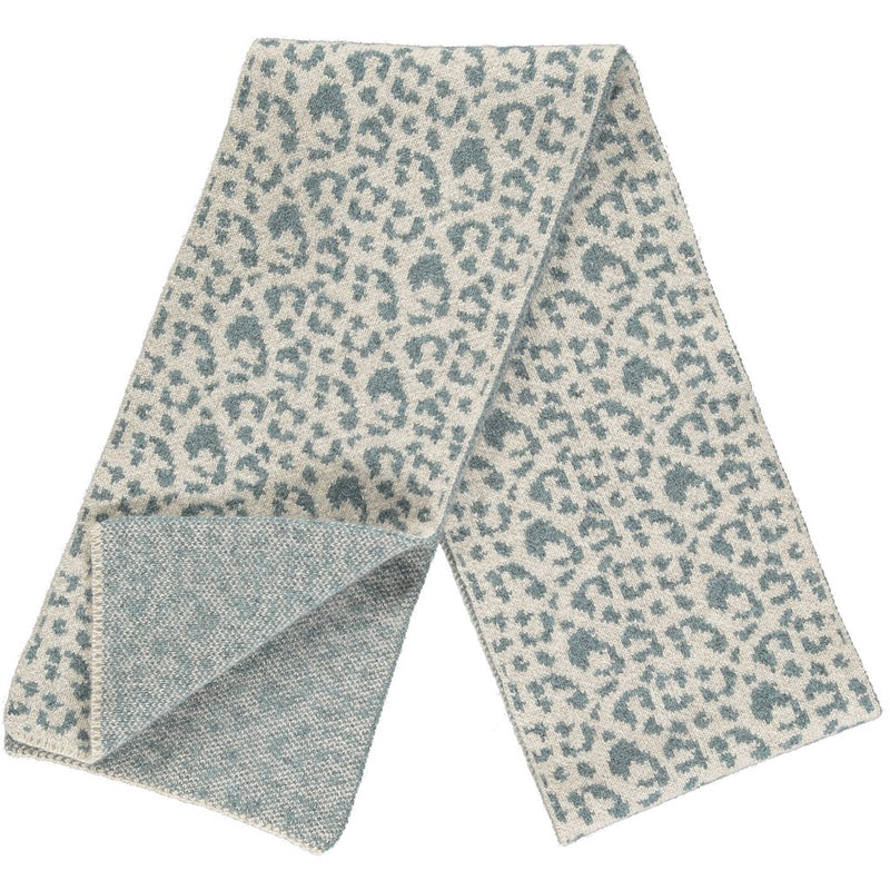 Sea Green Leopard Scarf