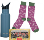 Cycling #OnYerBike Gift Set Reusable Water Bottle, Socks & Chocolate
