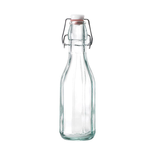 Roma Bottle; a wonderfully, elegant clear bottle that can contain up to 500ml of liquid, sold by Percy Langley