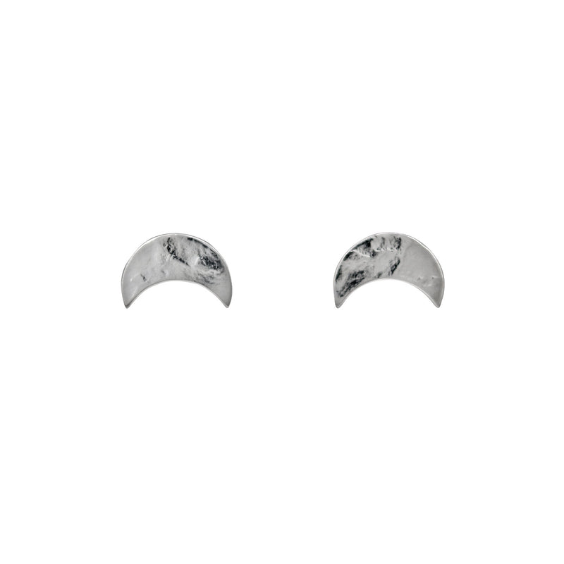 Selene Stud Silver Earrings
