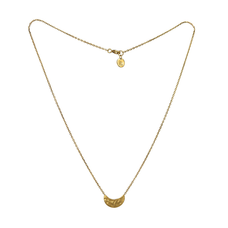 Selene Crescent Pendant Gold Necklace