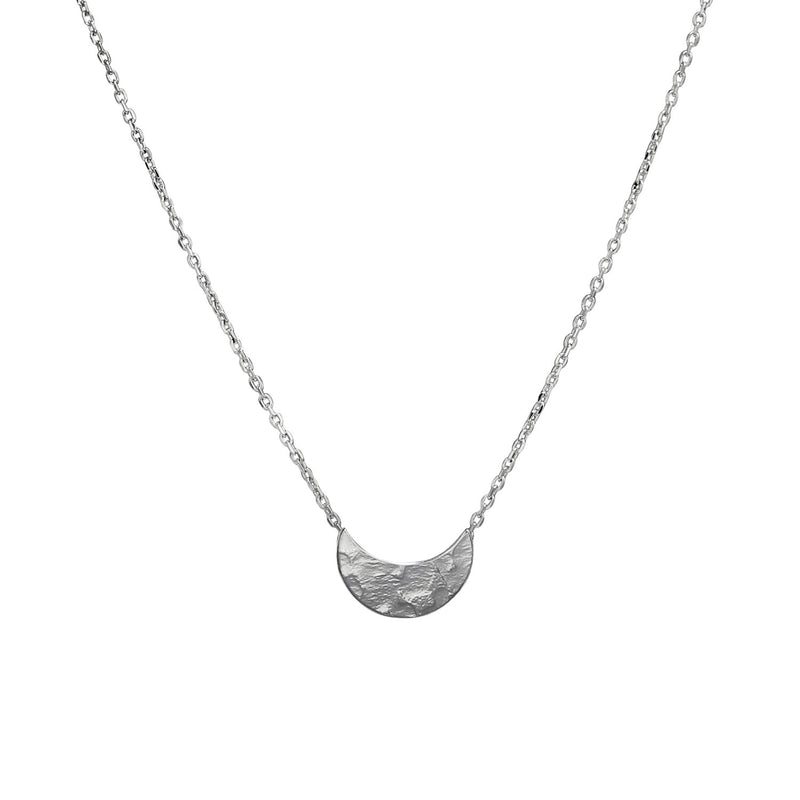 Selene Crescent Pendant Silver Necklace