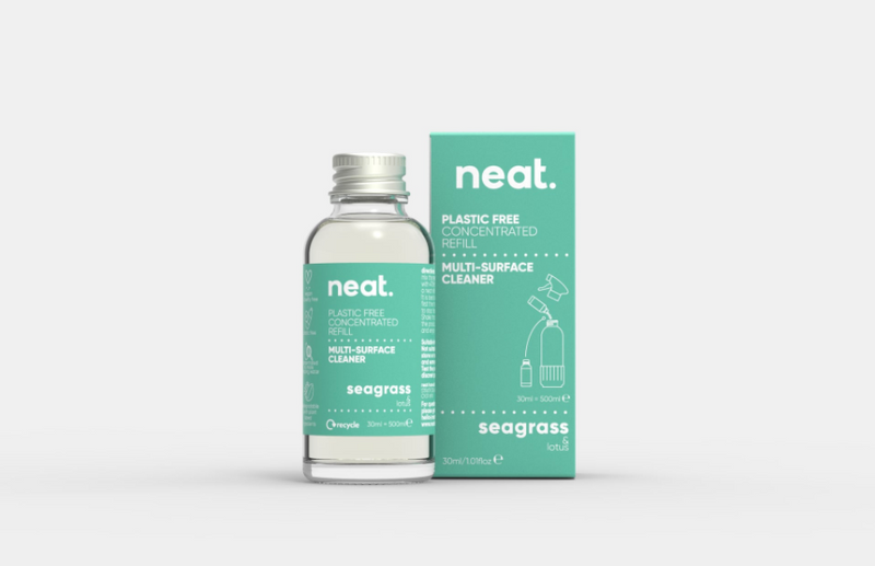 neat Concentrated Cleaning refill; a sustainable cleaning product which is brilliant at tackling dirt and helps to reduce landfill waste, sold by Percy Langley