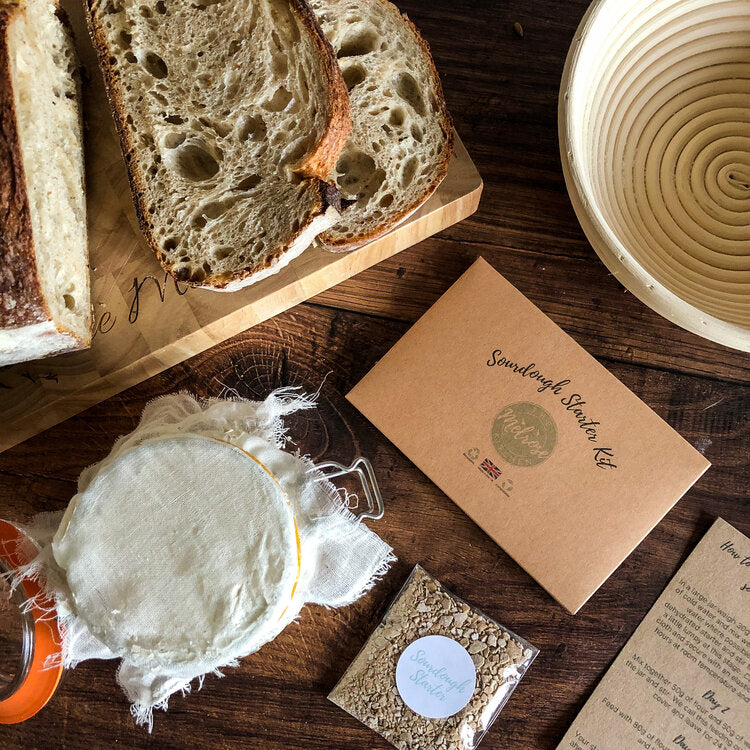 Sourdough Starter Kit from iconic baker The Melrose Kitchen in Brighton. This kit makes the original white sourdough loaf, which has a deliciously subtle and slightly sour flavour that everybody loves.