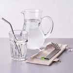 Stainless steel reusable straws supplied by ecoLiving, sold by Percy Langley