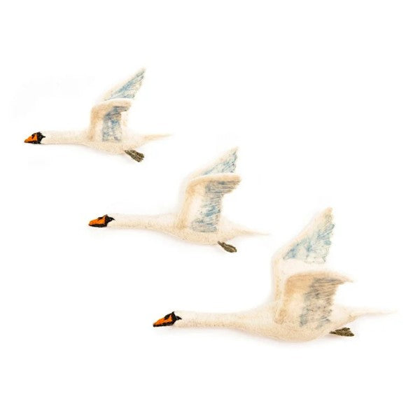 Flying Swans Felt Trio by Sew Heart Felt