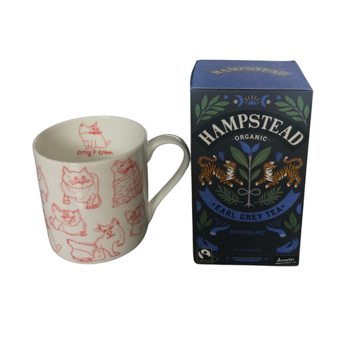 Hampstead Organic Earl Grey Tea  Cat fine bone china cup by ARTHOUSE Unlimited