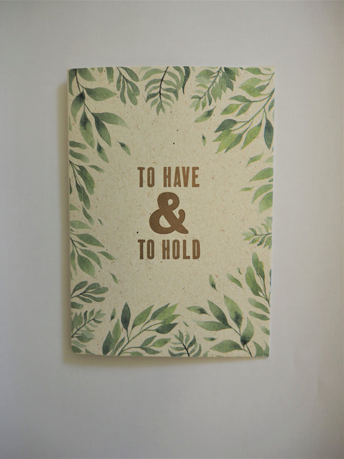 This hand printed card is the perfect way to celebrate someone's union, by Percy Langley